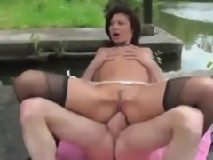 French Cougar Anal and DP