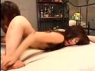 Wild Asian girl is made to cum hard and gives a hot blowjob