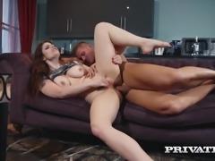 Lucia Love likes it rough, this dirty girl spreads those plump cheeks to take...