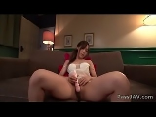 Yukina Momota teasing her small moist twat properly