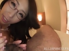 You can see that this Asian babe really loves a hard cock