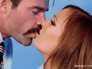 Dani Jensen parted her mouth slightly, as my lips met hers and we kissed tenderly. I ran a finger across the underside of the exposed breast, finally cupping it. I started to grope her tits and she moaned in pleasure. I shoved my dick into her throat and nailed her really hard in the end.