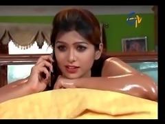 mallu telugu serial actress sravya sruthi hot massage scene