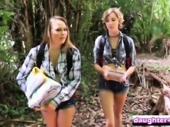 April And Serenity Banged By Step Dads On Camping