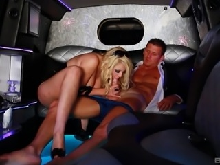 Limousine is where Shay Hendrix goes slutty with a big dick