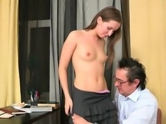 Demure babe acquires her pussy ravished by teacher