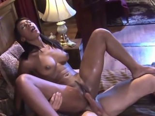 Ebony sexploitress Rane Revere fucks white boy for money