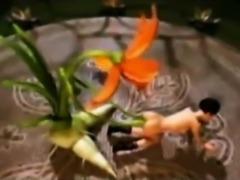 3D Giant Flower Fucks a Skinny Girl!