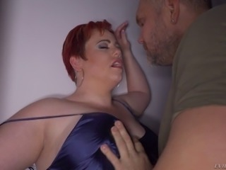 Fat lady Amor loves bouncing on a hot lover's boner