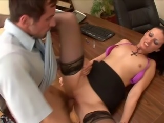 WANKZ Hailey Young Ass Fucked In The Office