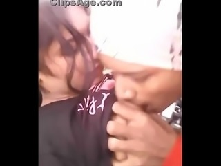 Very cute desi college girlfriend gets boobs sucked by boyfriend