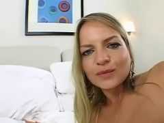 The sight of hard sex toys makes mature babe excited