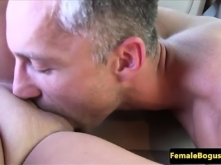 Busty european cabbie doggystyled after oral
