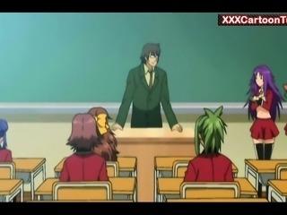 Hentai professor fuck his female class
