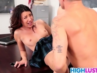 School slut Sophia Grace gets rammed