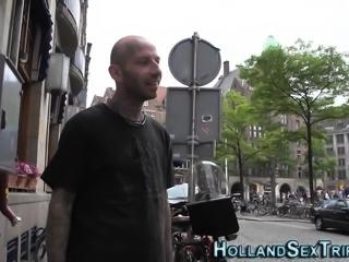 European hooker gets cum
