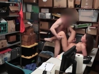 Tiny thief Brooke Bliss pounded by the officer