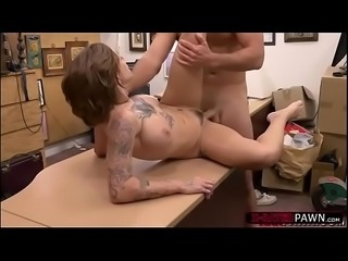 Tattooed big tits Harlow Harrison gets hammered by Shawns huge cock