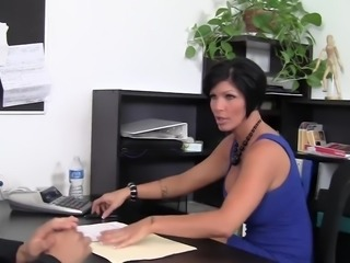Busty MILF Boss Fucked Over Her Own Desk