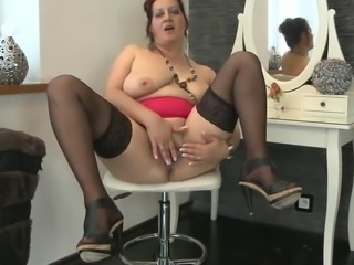 Big breasted matured woman