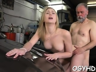 Slutty young girl likes hardcore insertion of old hard jock