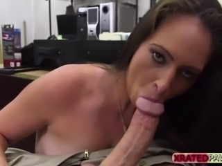 Hardcore sex with a hottie Sex toys seller in the shop