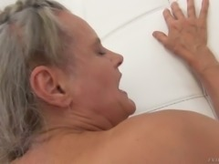 Mature wicked woman and kinky blondie get into hardcore threesome with one man