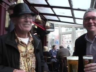 Cocksucked sex tourist swallows own jizz