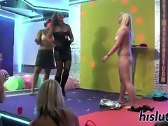 Saucy sluts get naughty at a party