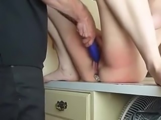 wife get large anal plug and wipe