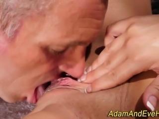 Busty slut gets railed