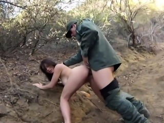 Huge tits dildo squirt and brunette kissing Mexican border p