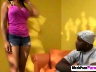 Big black cocked stud fucking busty ebony hard