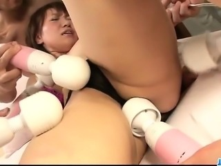 Sweet Japanese oral play in group for Kana Mimura