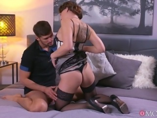 horny stepmom wants his cock in her shaved pussy