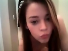 Teen girl dancing naked