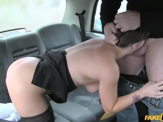Stop the taxi please. This hottie had the sudden urge to eat some asshole, and luckily the fake taxi driver liked to get rimjobs. Her legs are stunning in nylons, and she offered up her cunt to be eaten out. She gives a great blowjob, too.