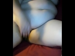 Bbw wife Kitty playing with her fat pussy
