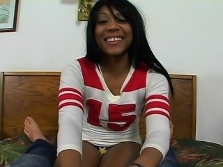 Gorgeous black hottie is showing us her love towards cock
