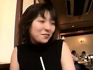 Beautiful Japanese babe gets taken home and pounded hard by