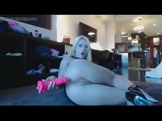Wife slut fucks ass and pussy with pink dildo more PornWebCamZ.com