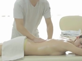 Charming playgirl gets wild poundings after hawt massage