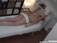 This cute blonde came in for a massage, plus some good sex. She didn't know...