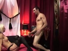 Stockinged dutch hooker fingered before sex