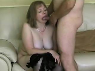 fine My milf - grandma mature in stockings gargling shaft