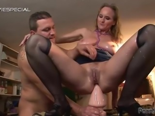 Horny Old Slut With Big Tits Going Wild with Many Sex Toys and a Hard Dick