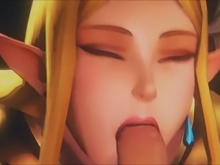 Princess Zelda & Friend POV Blowjob - Fantasy