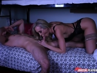milf brandi caught him stroking off