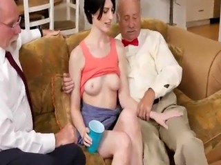 Public agent old compeer and retro man xxx Frannkie goes and munches h