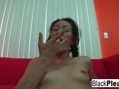 Interracial POV fucking with Dawn Iris